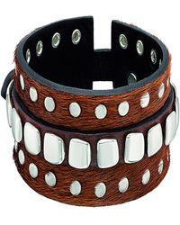 Uno De 50 - Unode50 Tacha2 Silver Plated Leather Bracelet - Lyst