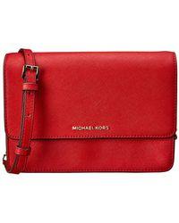 844006d3fda4 MICHAEL Michael Kors - Daniela Large Gusset Leather Crossbody - Lyst