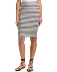 Three Dots - French Terry Stripe Pencil Skirt - Lyst