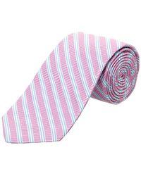 Ike Behar - Lilac Cabana Stripe Silk Tie - Lyst