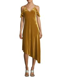 Donna Morgan - Ochre Asymmetric Dress - Lyst