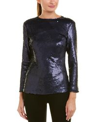 ESCADA - Long-sleeve Fitted Sequin Top - Lyst