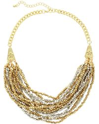 Sparkling Sage - 14k Plated & Plated Multi-strand Beaded Necklace - Lyst