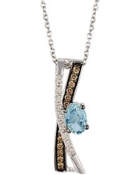 Le Vian - ® Chocolatier® 14k 0.53 Ct. Tw. Diamond & Aquamarine Necklace - Lyst