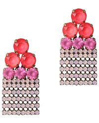 Loren Hope - Good Vibes 18k Plated Crystal Earrings - Lyst