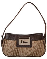 2fcbff249081 Lyst - Dior Navy Trotter Canvas Mini Saddle Bag