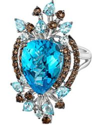 Le Vian - ® 14k 11.48 Ct. Tw. Blue Topaz & Smokey Quartz Ring - Lyst