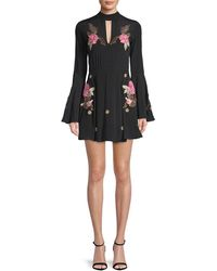 Millie Mackintosh - Rose Embroidery Flare Dress - Lyst