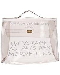 Hermès - Clear Vinyl Souvenir De L'exposition Kelly Ghw - Lyst