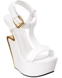 7a9f881fe462 Giuseppe Zanotti - Signature Leather Wedge - Lyst