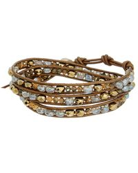 Chan Luu - Silver & Leather Gemstone Wrap Bracelet - Lyst