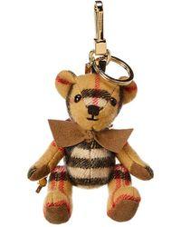 Burberry - Thomas Bear Cashmere & Leather Charm - Lyst