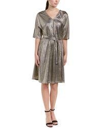 Vero Moda - Metallic A-line Dress - Lyst