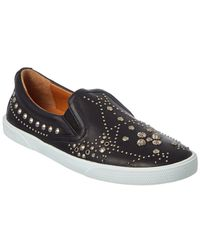 d3455dfb50e Jimmy Choo - Demi Graphic Star Stud Embellished Leather Slip-on Sneaker -  Lyst