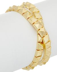 Noir Jewelry - 18k Plated Wrap Bracelet - Lyst