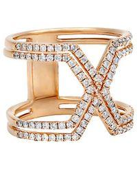 Diana M. Jewels - . Fine Jewelry 14k Rose Gold 0.75 Ct. Tw. Diamond Ring - Lyst