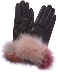 Surell - Cashmere-lined Leather Glove - Lyst