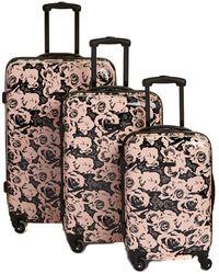 Nine West Emi 3pc Luggage Set - Black