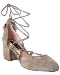Steven by Steve Madden - Valo Suede Pump - Lyst