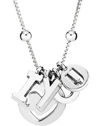 PANDORA - Silver I Love You Necklace - Lyst