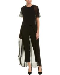 Trina Turk - Capote Silk-trim Jumpsuit - Lyst