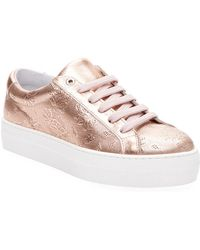 Saks Fifth Avenue - Perforated Leather Trainers - Lyst