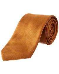 Brioni - Gold Silk Tie - Lyst