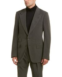 Tom Ford - 2pc Silk Suit With Flat Pant - Lyst