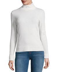 Lafayette 148 New York - Long Sleeve Wool Turtleneck Sweater - Lyst