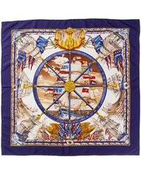 """Hermès - """"vive Le Vent,"""" By Laurence Thioune Silk Scarf - Lyst"""