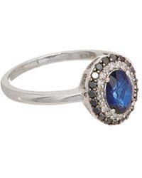 Effy - Fine Jewelry 14k 1.24 Ct. Tw. Diamond & Sapphire Ring - Lyst