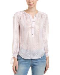 Rebecca Taylor - Striped Silk Top - Lyst