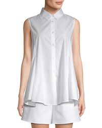 White Story - Cut-out Flounce Blouse - Lyst