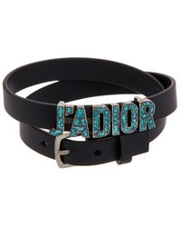 Dior - J'a Double-loop Leather Bracelet - Lyst