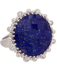 Anzie - Dew Drop Silver Gemstone Ring - Lyst