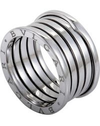 BVLGARI - B.zero1 Four-band Stainless Steel Ring - For Women - Lyst