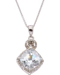 Effy - Fine Jewellery 14k 3.62 Ct. Tw. Diamond & Aquamarine Necklace - Lyst