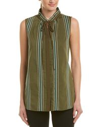 0ab7fa196a6ad6 Lyst - Lafayette 148 New York Annetta Blouse in Blue