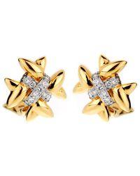 Heritage Tiffany & Co. - Tiffany & Co 18k Two-tone 0.65 Ct. Tw. Diamond Earrings - Lyst