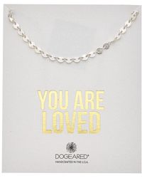 Dogeared - You Are Loved Silver Flat Disc Necklace - Lyst