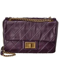 Chanel - Purple Quilted Calfskin Leather Cosmos Small Flap Bag - Lyst