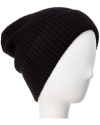 Quinn - Ribbed Knit Cashmere Hat - Lyst