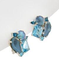 Stephen Dweck - One Of A Kind Silver Gemstone & Pearl Earrings - Lyst