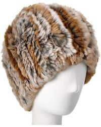 Belle Fare - Knit Rex Rabbit Hat - Lyst