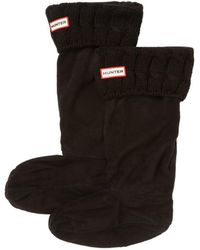 HUNTER - Cable Stitch Boot Sock - Lyst