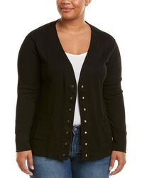 Three Dots - Plus Seamed Cardigan - Lyst