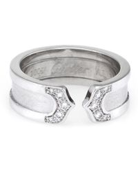 Cartier - Cartier Logo 18k Diamond Ring - Lyst
