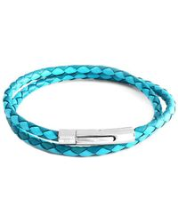 Tateossian - Rt By Stainless Steel & Leather Bracelet - Lyst