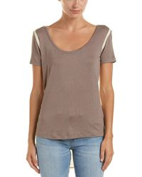 Lime & Vine - Camilla Colorblock Shirt Tail Top - Lyst