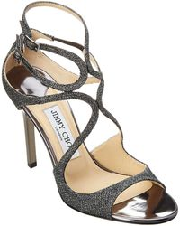 db78f91d46e Lyst - Jimmy Choo  lang  Glitter Strappy Sandals in Metallic